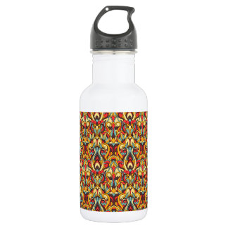Abstract hand drawn pattern. Warm colors. 532 Ml Water Bottle