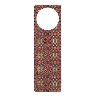 Abstract hand drawn pattern. Warm colors. Door Hanger