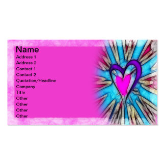Abstract Heart Business Cards