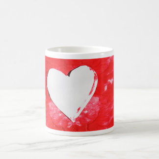 Abstract heart coffee mug