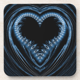 abstract heart drink coasters