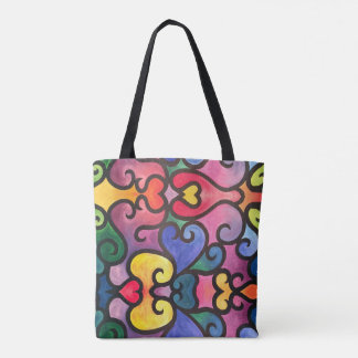 Abstract Heart Design Tote Bag