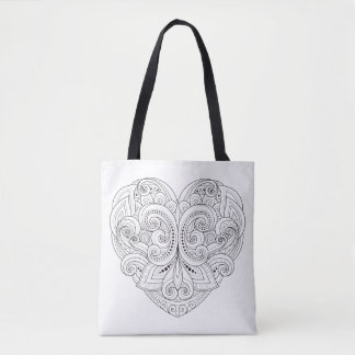 Abstract Heart Doodle 2 Tote Bag