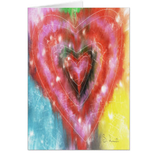 Abstract Heart Greeting Card