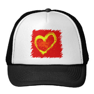 Abstract Heart Mesh Hat