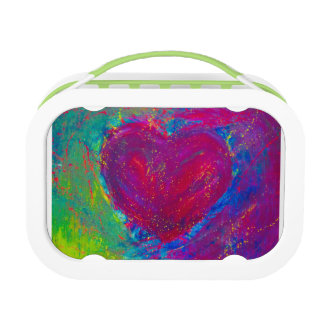 Abstract Heart lunch box