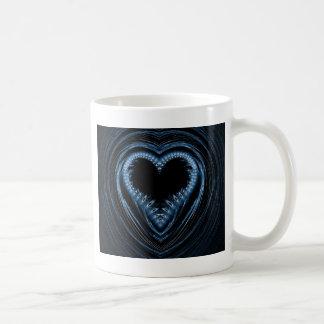 abstract heart coffee mugs