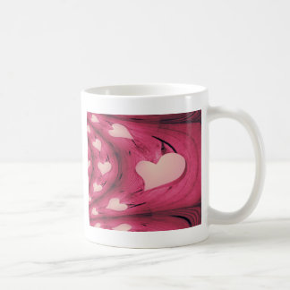 abstract heart mug