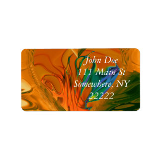 Abstract Heart on Fire Address Label
