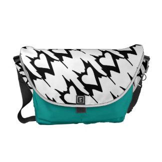 Abstract Heart Pattern Messenger Bag