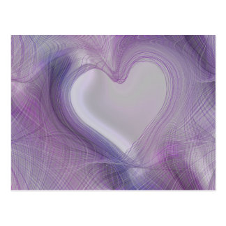 abstract heart postcard