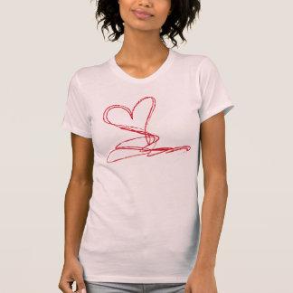 Abstract Heart Tee Shirts