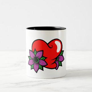 Abstract Heart Two-Tone Mug