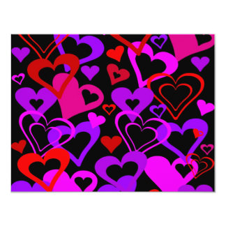 Abstract Hearts 11 Cm X 14 Cm Invitation Card