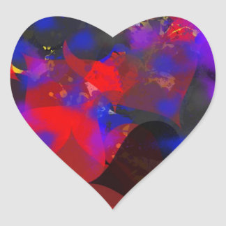 Abstract hearts heart stickers