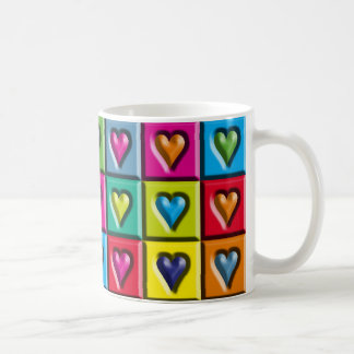 Abstract Hearts Coffee Mug