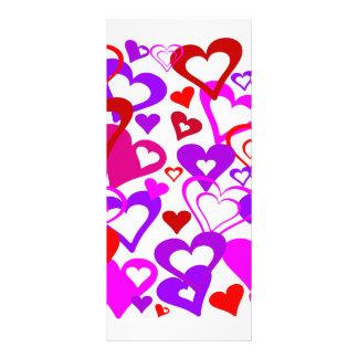 Abstract Hearts Custom Rack Cards