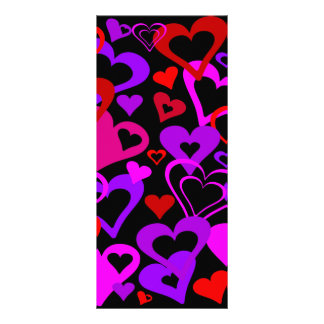 Abstract Hearts Full Color Rack Card