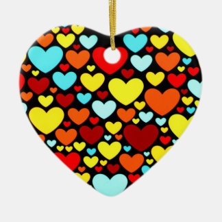 Abstract Hearts Shape in the Dark Ornament