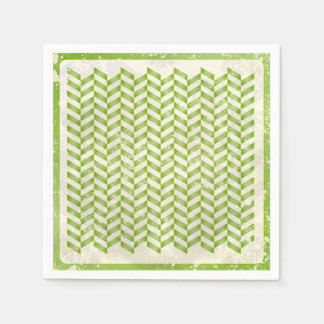 Abstract herringbone in greenery disposable serviette