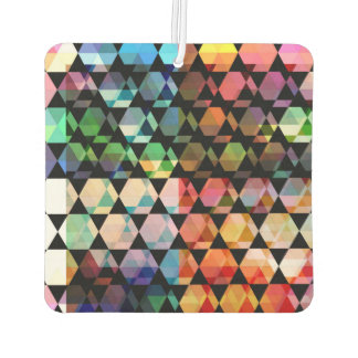 Abstract Hexagon Graphic Design Car Air Freshener