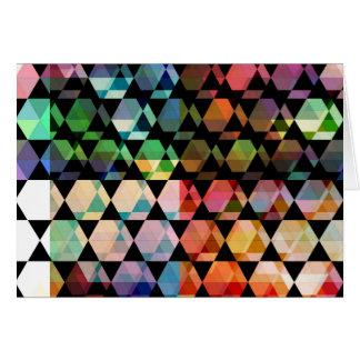 Abstract Hexagon Graphic Design Card