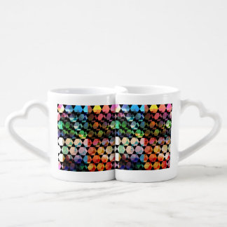 Abstract Hexagon Graphic Design Coffee Mug Set