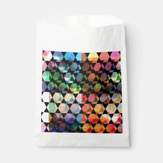 Abstract Hexagon Graphic Design Favour Bag