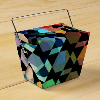 Abstract Hexagon Graphic Design Favour Box