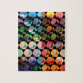 Abstract Hexagon Graphic Design Jigsaw Puzzle