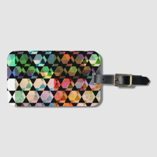 Abstract Hexagon Graphic Design Luggage Tag