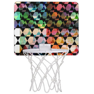 Abstract Hexagon Graphic Design Mini Basketball Hoop