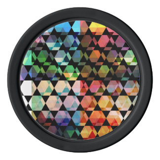 Abstract Hexagon Graphic Design Poker Chips