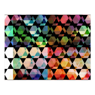 Abstract Hexagon Graphic Design Postcard