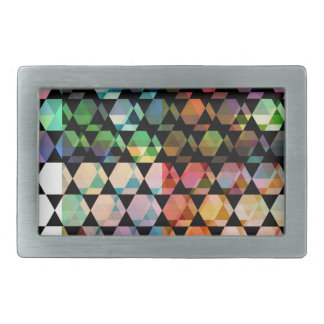 Abstract Hexagon Graphic Design Rectangular Belt Buckles