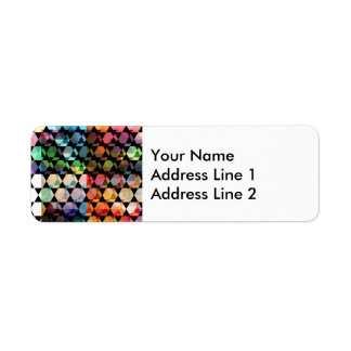 Abstract Hexagon Graphic Design Return Address Label
