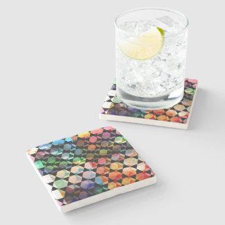 Abstract Hexagon Graphic Design Stone Coaster
