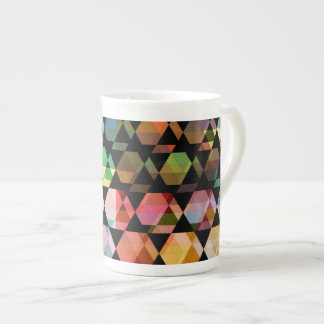 Abstract Hexagon Graphic Design Tea Cup