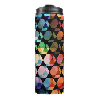 Abstract Hexagon Graphic Design Thermal Tumbler