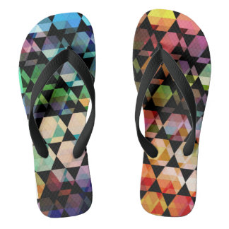 Abstract Hexagon Graphic Design Thongs