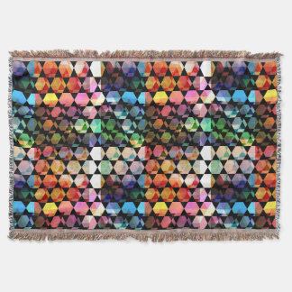 Abstract Hexagon Graphic Design Throw Blanket