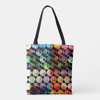 Abstract Hexagon Graphic Design Tote Bag