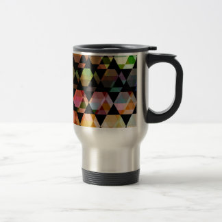 Abstract Hexagon Graphic Design Travel Mug