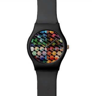 Abstract Hexagon Graphic Design Watch