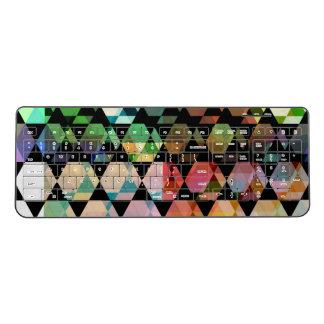 Abstract Hexagon Graphic Design Wireless Keyboard