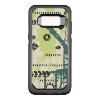Abstract hi-tech background OtterBox commuter samsung galaxy s8 case