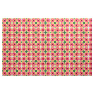 Abstract Hibiscus Kaleidoscope Fabric