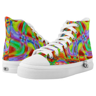 abstract high tops printed shoes