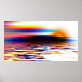 Abstract Horizon Poster