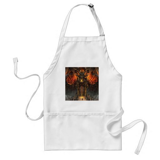 Abstract Horror Approach The Gates Of Hell Apron